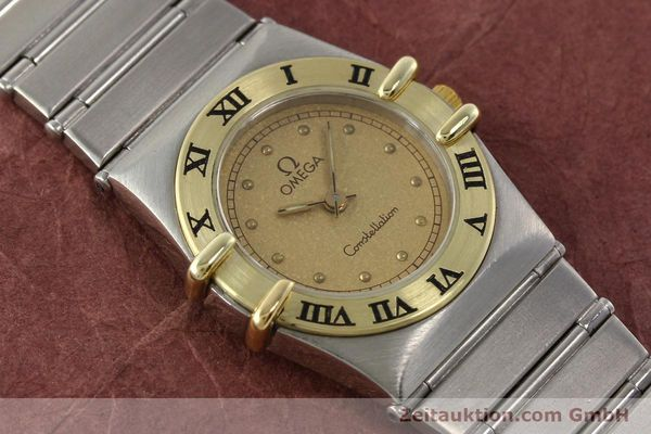 Used luxury watch Omega Constellation steel / gold quartz Kal. 1455 ETA 976001  | 140922 14