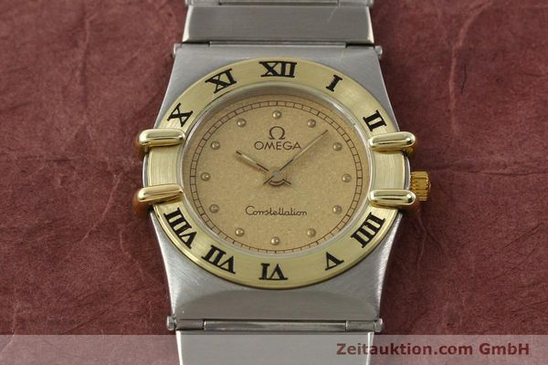 Used luxury watch Omega Constellation steel / gold quartz Kal. 1455 ETA 976001  | 140922 15
