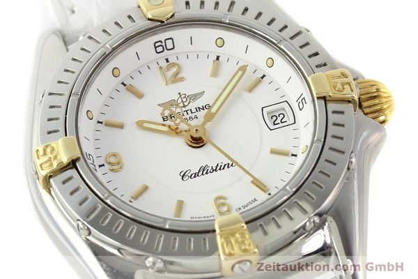 Used luxury watch Breitling Callistino gilt steel quartz Ref. B520451  | 140929 02