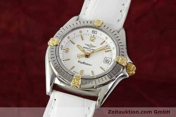 Used luxury watch Breitling Callistino gilt steel quartz Ref. B520451  | 140929 04