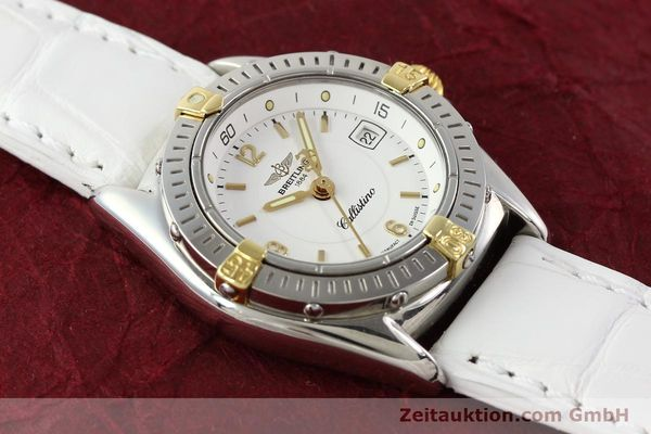 Used luxury watch Breitling Callistino gilt steel quartz Ref. B520451  | 140929 13