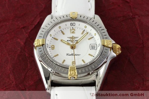 Used luxury watch Breitling Callistino gilt steel quartz Ref. B520451  | 140929 14
