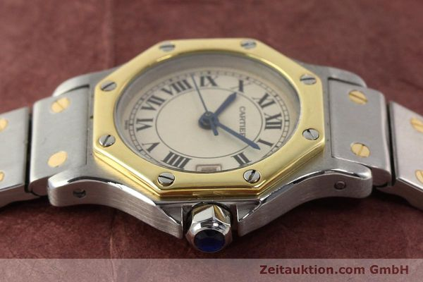 montre de luxe d occasion Cartier Santos acier / or  quartz  | 140930 05