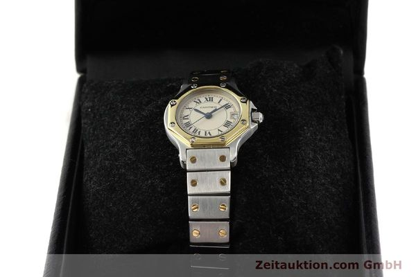 montre de luxe d occasion Cartier Santos acier / or  quartz  | 140930 07