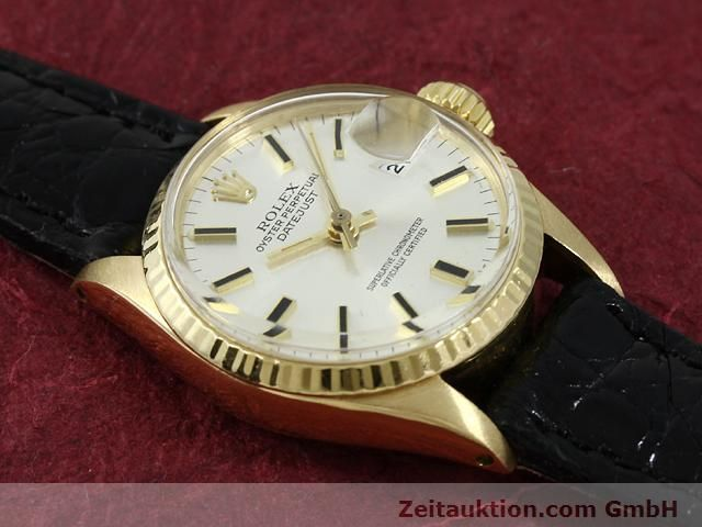 Used luxury watch Rolex Lady Datejust 18 ct gold automatic Kal. 1161 Ref. 6517  | 140933 12
