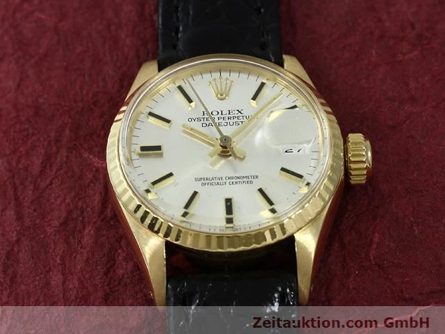 Used luxury watch Rolex Lady Datejust 18 ct gold automatic Kal. 1161 Ref. 6517  | 140933 13