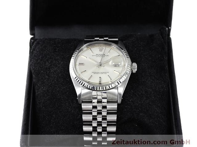 Used luxury watch Rolex Datejust steel / gold automatic Kal. 1570 Ref. 1601  | 140942 07