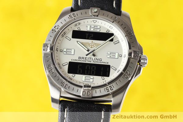 Used luxury watch Breitling Aerospace titanium quartz Kal. ETA E10.451 Ref. E79362  | 140963 04