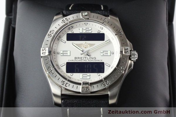 Used luxury watch Breitling Aerospace titanium quartz Kal. ETA E10.451 Ref. E79362  | 140963 07