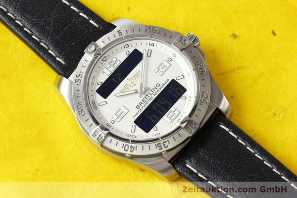 Used luxury watch Breitling Aerospace titanium quartz Kal. ETA E10.451 Ref. E79362  | 140963 12