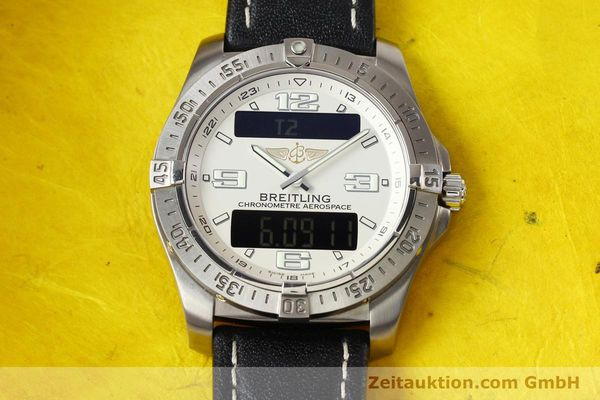 Used luxury watch Breitling Aerospace titanium quartz Kal. ETA E10.451 Ref. E79362  | 140963 13