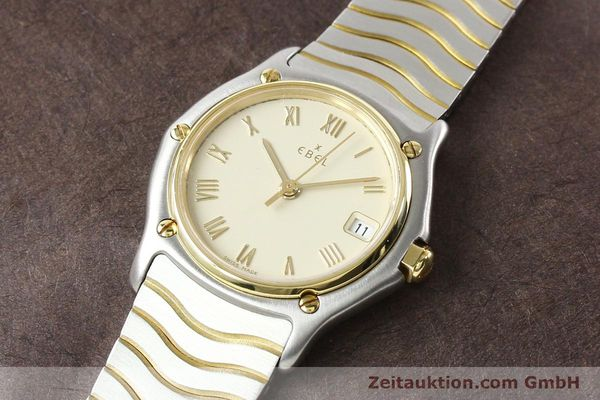 Used luxury watch Ebel Classic Wave steel / gold quartz Ref. E1087121  | 140965 01