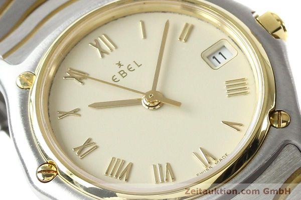 Used luxury watch Ebel Classic Wave steel / gold quartz Ref. E1087121  | 140965 02