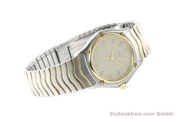 Used luxury watch Ebel Classic Wave steel / gold quartz Ref. E1087121  | 140965 03