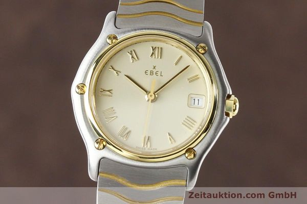 Used luxury watch Ebel Classic Wave steel / gold quartz Ref. E1087121  | 140965 04