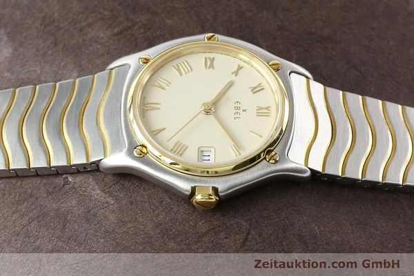 Used luxury watch Ebel Classic Wave steel / gold quartz Ref. E1087121  | 140965 05