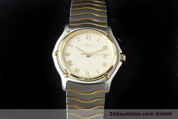 Used luxury watch Ebel Classic Wave steel / gold quartz Ref. E1087121  | 140965 07