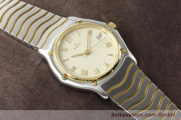 Used luxury watch Ebel Classic Wave steel / gold quartz Ref. E1087121  | 140965 12