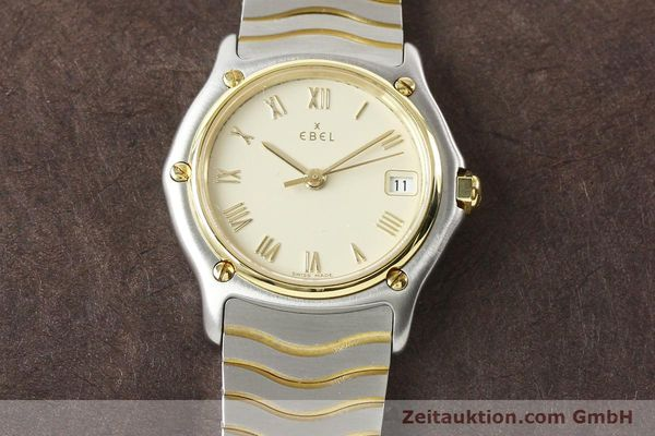 Used luxury watch Ebel Classic Wave steel / gold quartz Ref. E1087121  | 140965 13