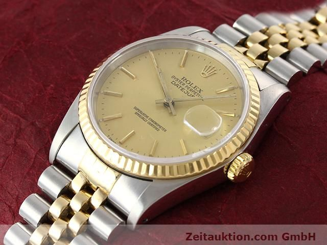 Used luxury watch Rolex Datejust steel / gold automatic Kal. 3135 Ref. 16233  | 140969 01