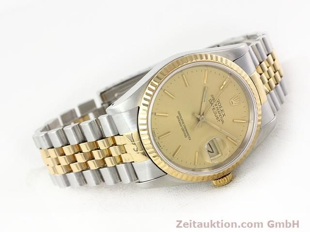 Used luxury watch Rolex Datejust steel / gold automatic Kal. 3135 Ref. 16233  | 140969 03
