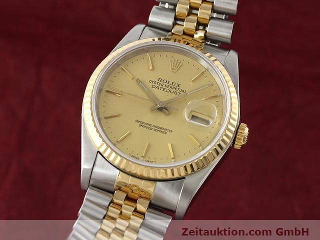 Used luxury watch Rolex Datejust steel / gold automatic Kal. 3135 Ref. 16233  | 140969 04