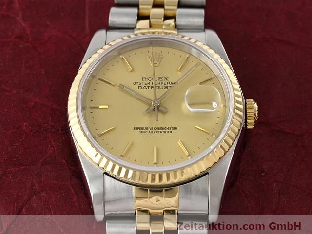 Used luxury watch Rolex Datejust steel / gold automatic Kal. 3135 Ref. 16233  | 140969 15