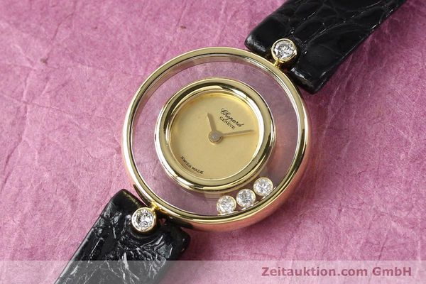 gebrauchte Luxusuhr Chopard Happy Diamonds 18k Gold Quarz Kal. ETA 201001 Ref. 4112  | 140972 01