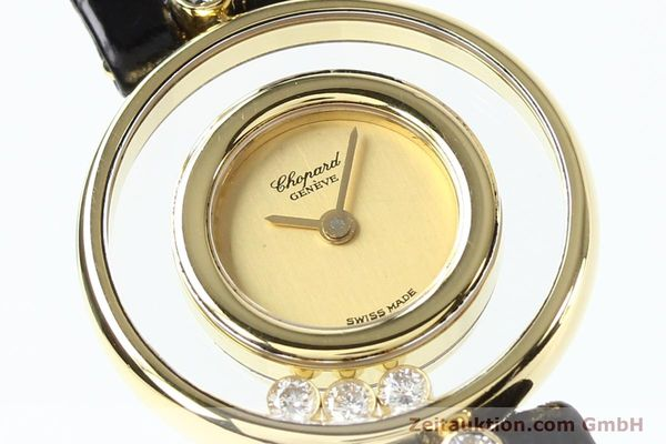 gebrauchte Luxusuhr Chopard Happy Diamonds 18k Gold Quarz Kal. ETA 201001 Ref. 4112  | 140972 02