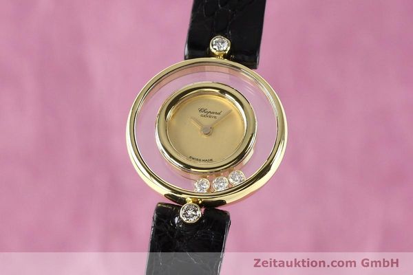 gebrauchte Luxusuhr Chopard Happy Diamonds 18k Gold Quarz Kal. ETA 201001 Ref. 4112  | 140972 04