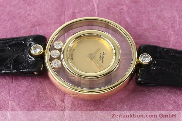 gebrauchte Luxusuhr Chopard Happy Diamonds 18k Gold Quarz Kal. ETA 201001 Ref. 4112  | 140972 05