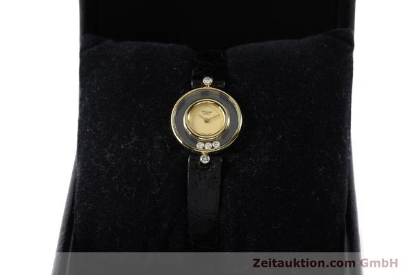 gebrauchte Luxusuhr Chopard Happy Diamonds 18k Gold Quarz Kal. ETA 201001 Ref. 4112  | 140972 07