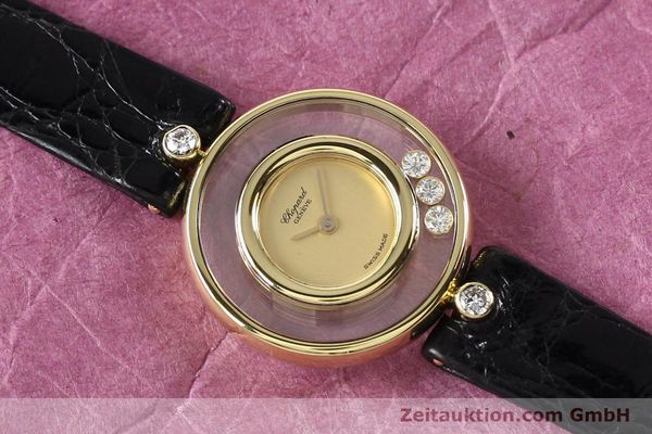 gebrauchte Luxusuhr Chopard Happy Diamonds 18k Gold Quarz Kal. ETA 201001 Ref. 4112  | 140972 12