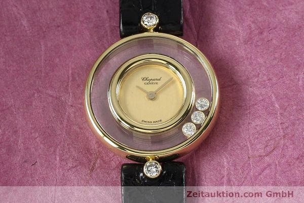 gebrauchte Luxusuhr Chopard Happy Diamonds 18k Gold Quarz Kal. ETA 201001 Ref. 4112  | 140972 13