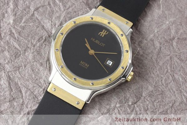 Used luxury watch Hublot MDM steel / gold quartz Kal. ETA 956112 Ref. S139102  | 140995 01