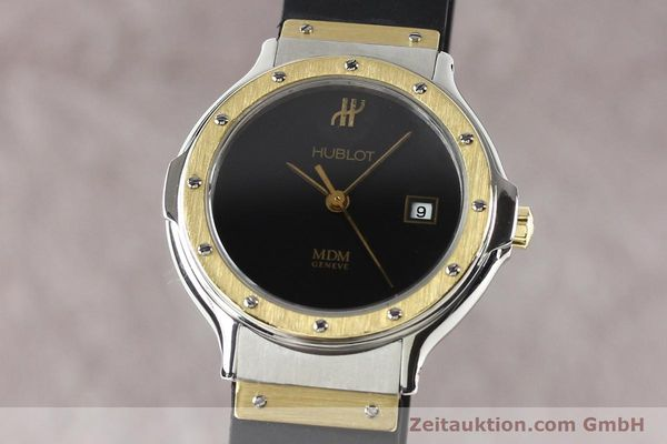 Used luxury watch Hublot MDM steel / gold quartz Kal. ETA 956112 Ref. S139102  | 140995 04