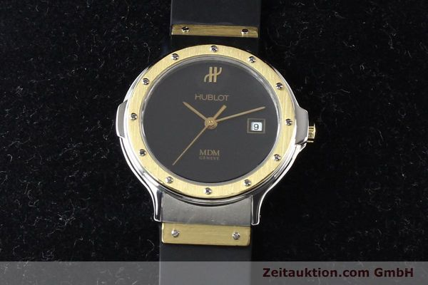 Used luxury watch Hublot MDM steel / gold quartz Kal. ETA 956112 Ref. S139102  | 140995 07