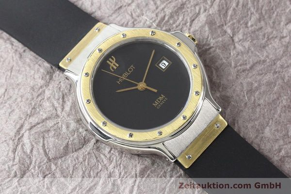Used luxury watch Hublot MDM steel / gold quartz Kal. ETA 956112 Ref. S139102  | 140995 13
