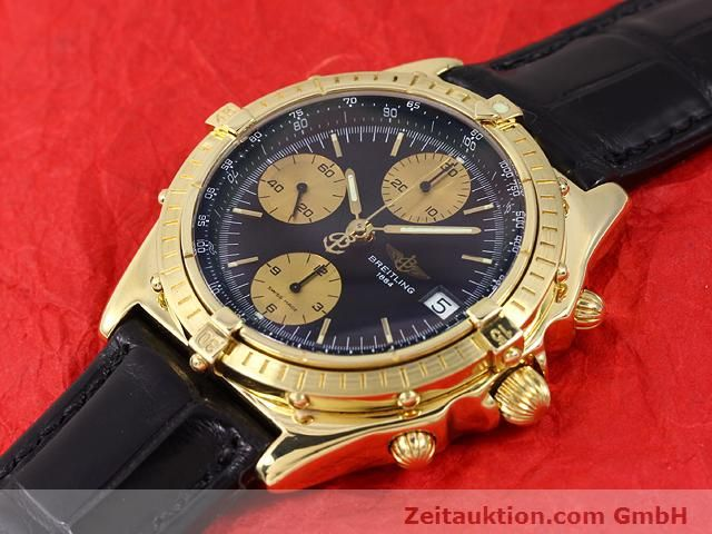 Used luxury watch Breitling Chronomat 18 ct gold automatic Kal. Valj. 7750 Ref. 81950K13047  | 140997 01