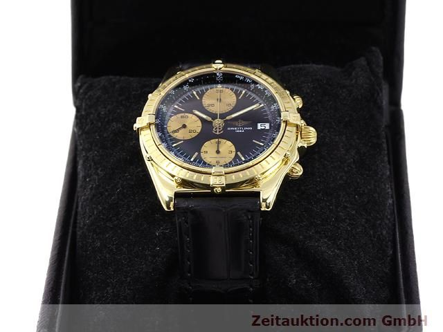 Used luxury watch Breitling Chronomat 18 ct gold automatic Kal. Valj. 7750 Ref. 81950K13047  | 140997 07