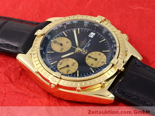 Used luxury watch Breitling Chronomat 18 ct gold automatic Kal. Valj. 7750 Ref. 81950K13047  | 140997 12