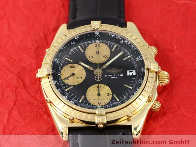Used luxury watch Breitling Chronomat 18 ct gold automatic Kal. Valj. 7750 Ref. 81950K13047  | 140997 13