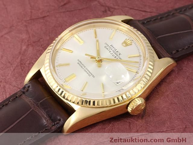 Used luxury watch Rolex Datejust 18 ct gold automatic Kal. 1570 Ref. 1601  | 141024 01