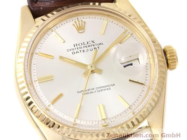 Used luxury watch Rolex Datejust 18 ct gold automatic Kal. 1570 Ref. 1601  | 141024 02
