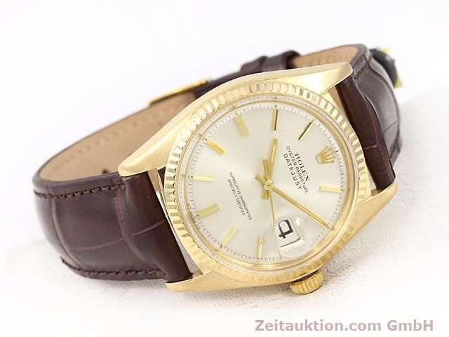 Used luxury watch Rolex Datejust 18 ct gold automatic Kal. 1570 Ref. 1601  | 141024 03