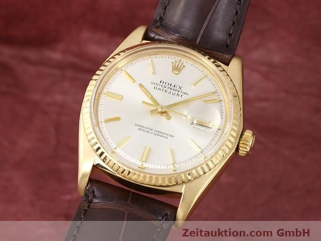 Used luxury watch Rolex Datejust 18 ct gold automatic Kal. 1570 Ref. 1601  | 141024 04