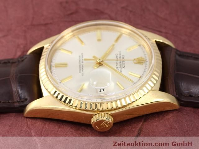 Used luxury watch Rolex Datejust 18 ct gold automatic Kal. 1570 Ref. 1601  | 141024 05