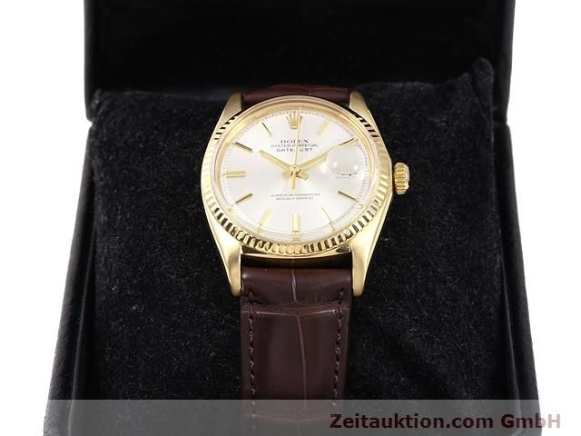 Used luxury watch Rolex Datejust 18 ct gold automatic Kal. 1570 Ref. 1601  | 141024 07