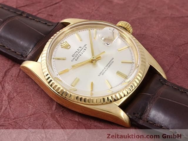 Used luxury watch Rolex Datejust 18 ct gold automatic Kal. 1570 Ref. 1601  | 141024 14
