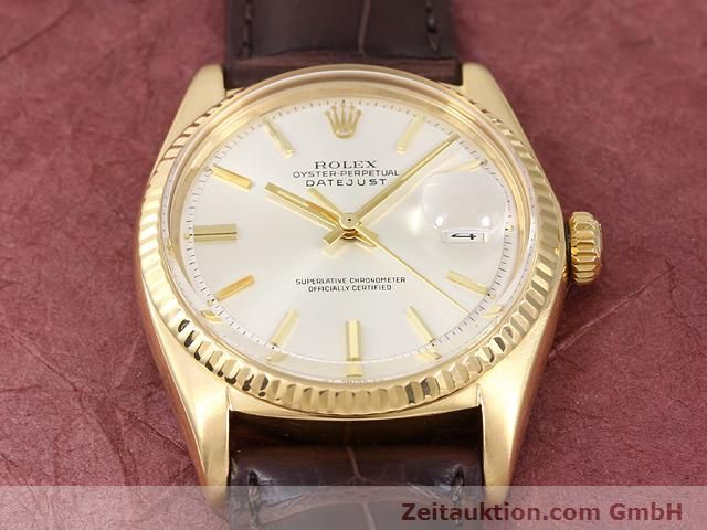 Used luxury watch Rolex Datejust 18 ct gold automatic Kal. 1570 Ref. 1601  | 141024 15